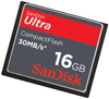 SanDisk SDCFH-016GG-A11 16GB Ultra CompactFlash (CF) High Speed 30MB/s